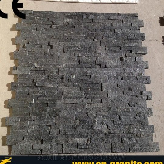 Single Piece Natural Stone Effect Travertine Wall Tile L: Black Cultured Stone Wall Cladding,Natural Stone Exterior