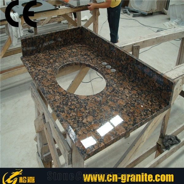 Tan Brown Granite Tops Bathroom Vanity Top Prefab Home Depot Commercial
