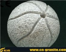 White Granite Garden Ball,Granite Ball for Decoration Outdoor,Packing Stone /Packing Curbs for Landscaping Stone
