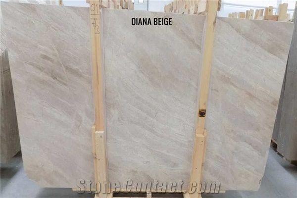 Diana Royal Marble Tiles Slabs Diana Beige Polished Marble Flooring