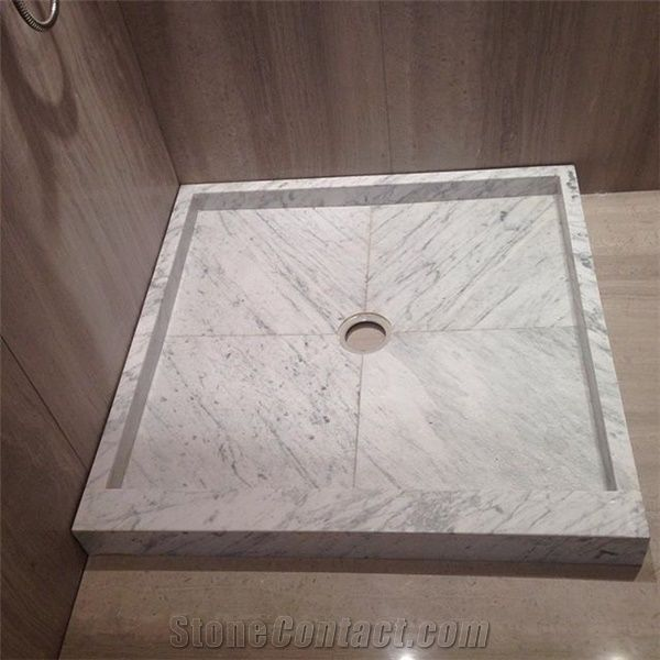 Bianco Carrara Marble Shower Tray Shower Base From China