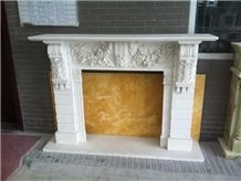Home Decor Marble Stone Fireplace