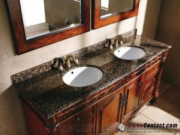 Baltic Brown Bathroom Countertops Finland Brown Custom