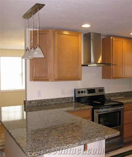 19 Best Images About L Shape Kitchens With Island On: Butterfly Beige Granite L Shape Countertops, Brazil Beige