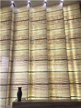 Onice Avorio Onyx Slabs & Tiles, Translucent Onyx Wall Panel
