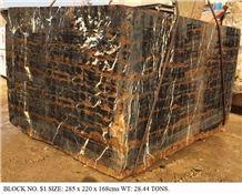 Pakistan Black N Gold Marble Blocks