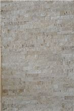 Beige Travertine Cultured Stone for Wall Cladding