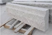 G603 / Silver Grey Flamed Granite Kerbstone,Silvery Grey Hubei G603 Padang Crystal Granite,Sesame White Granite,Crystal Grey Granite,Light Grey Granite Kerbstone