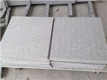 G603 / Silver Grey Flamed Granite Tile,Silvery Grey Hubei G603 Padang Crystal Granite,Sesame White Granite,Crystal Grey Granite,Light Grey Granite Tiles