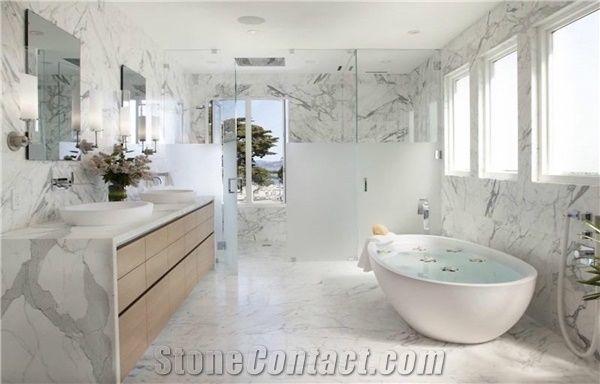 Calacatta Marble Bathroom Design