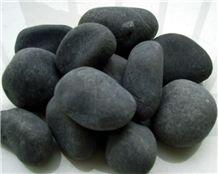 Black Natural Pebble Stone