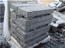 Split Face G654 China Impala Black Granite Cube Stone/ Cobble Paving Sets/ Exterior Landscaping Stone