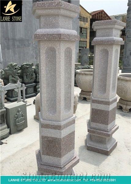 Outdoor Architectural Columns Marble Garden Sculptured