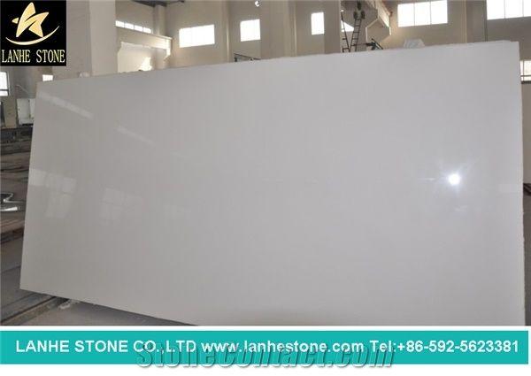 Pure White Quartz Stone Slabs China
