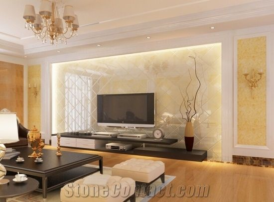 Tv Wall Marble Design