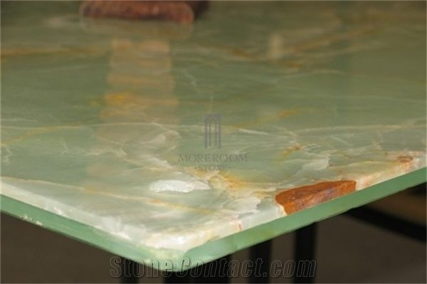 Green Onyx Stone Composite Tempered Glass Laminated Onyx Yunfu Factory Marble Price Per Sqm From China Stonecontact Com