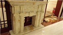 Onyx Fireplace Decorating for Villa