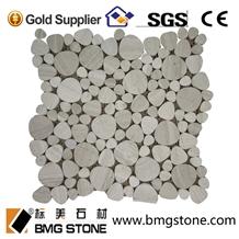 Wooden Marble Mosaic Tiles Serpeggiante Grain
