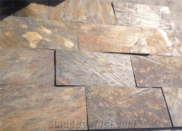 Multicolor Riven Slate Tilesrusty Split Face Slate Paving Stone