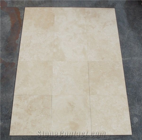 Tumbled Light Beige Stone Effect Travertine Wall Floor: Extra Light Travertine Tiles Slabs, Beige Polished