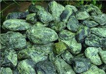 Serpentine, Serpentenit Green Stone Blocks