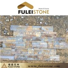 China Cheap Stack Rusty Yellow Slate Cultured Stone