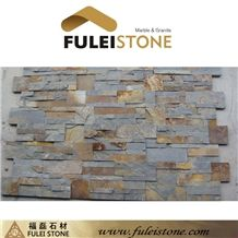 Natural Cultured Stone Rusty Slate Wall