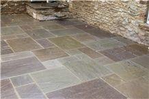 Otley Sandstone Pattern Terrace Floors, Beige Sandstone Floor Covering