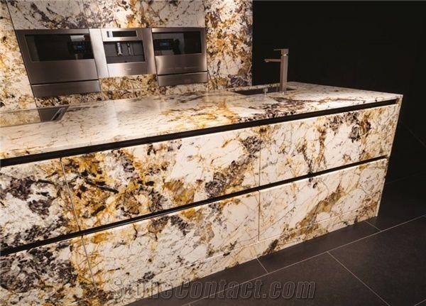 Delicatus Gold Granite Kitchen Countertop