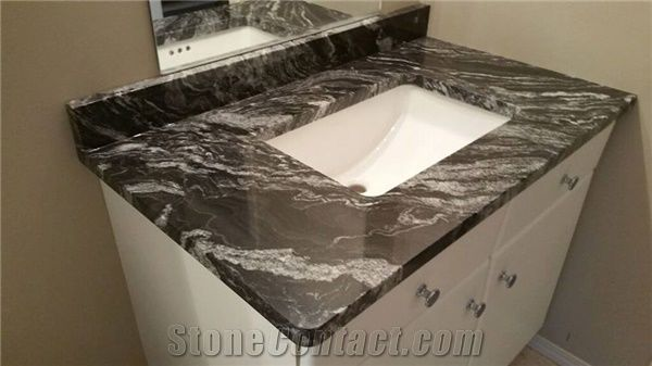 Granite Bathroom Vanity Tops agata granite bathroom vanity top from canada - stonecontact