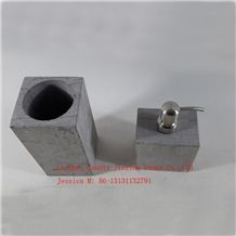 China Grey Marble Toilet Brush Holder Bath Accessories