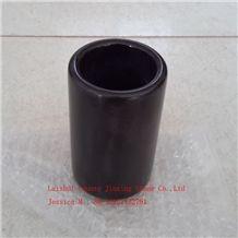 Marble Tumbler /Stone Tumbler /Bathroom Tumbler /Lack Marble Bathroom Cup /Black Marble Tumbler/Marble Cups