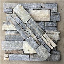 Smc-Cc178 Rectangle Nature Cultured Stone Panel,Wall Stone Veneer,Ledge Stone Veneer,Stacked Stone Wall Cladding, Ledge Stone Corner,Cement Cultured Stone Wall Panel