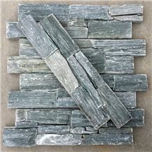 Smc-Cc180 P013 Green Slate Cement Natural Cultured Stone/ Stacked Stone/ Ledge Stone for Wall Panel Cladding