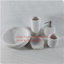 Whtie Marble Bathroom Accessory Set /White Marble Tumbler /White Marble Soap Dish /White Marble Soap Dispenser /White Marble Toilet Brush Holder /Whtie Marble Toothbrush Holder