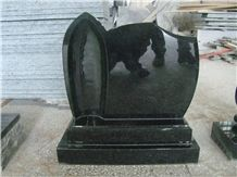 China Black Granite Polish Tombstone / Monument