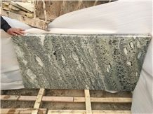 China Peacock Green Marble Slab and Tile