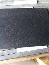 G684 China Black Galaxy Pearl Basalt Fuding Black Basalt Honed Tile & Slab