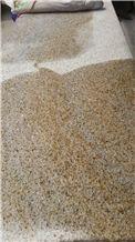 New G682 China Yellow Rustic Desert Sand Sunset Gold Shandong Yellow Granite Flamed Bushhammered Polished Tile & Slab