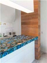 Semi Precious Stone Colorful Kitchen Countertop Kitchen Bar Top