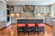 Granite Kitchen Countertops, Glass Mosaic Backsplash