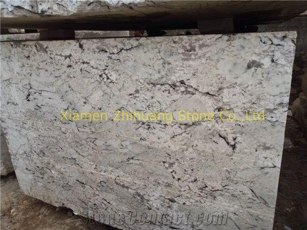 Persian Pearl Granite Snow Lotus Granite Polished White