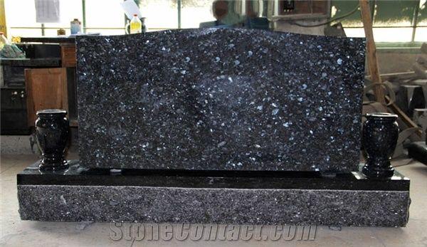 Blue Pearl Granite Tombstone Granite Memorial Granite