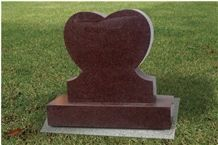 Ruby Red Granite Monument, China Red Granite Slant Grave
