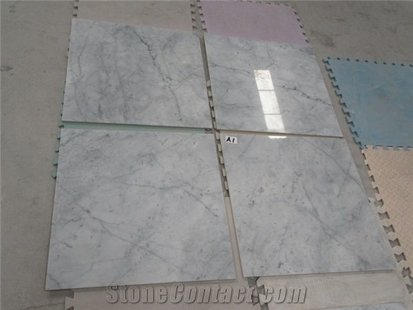 Bianco Carrara Marble Composite Porcelain Tiles From China