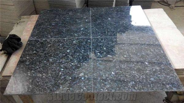 Polished Norwegian Blue Pearl Granite Slabs Tiles Norway