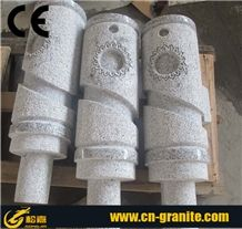 China Grey Granite G603 Landscaping Stone Chinese Grey Parking Stone Road Barrier Led Parking Lot Lighting