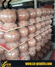 China Red Granite G562 Parking Stone Curbstones Chinese Maple Red Granite Landscaping Stone