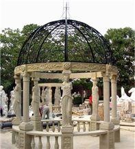 Garden Gazebo Look,Garden Statue Decoration,Garden Carved Statue Design,Garden Pattern