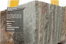 Verde Ceniza Sandstone Blocks, Green Sandstone Blocks